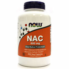 NOW Foods NAC N-Acetyl Cysteine 600mg 250cap Free Radical Protect Selenium 08/21
