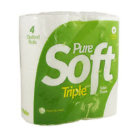 Pure Soft 3 Ply Toilet Rolls White Bulk Deal Luxury Soft Sustainable Tissue NEW