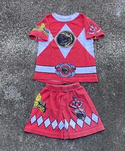 Vtg 1994 Boys Mighty Morphin Power Rangers Jason Red 2 Piece Set Size 5