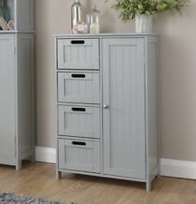 Grey Cabinet Storage Drawers Vintage Free Standing Hallway Sideboard Shaker Unit