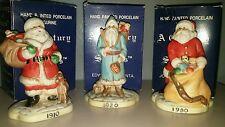 Porcelain Santas A Century Of Santas Collection Lot Of 3 RSVP Company