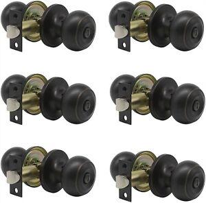 6 Pack Probrico Interior Bathroom Privacy Keyless Doorknobs Door Lock Lockset