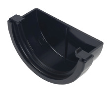 FloPlast REM1B uPVC Mini-flo Half Round Gutter Stop End (L)51mm (Dia)76mm -New