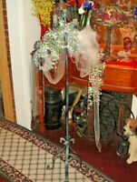 Antique Wrought Iron Candelabra Funeral Home Candle Stand Religious Decor