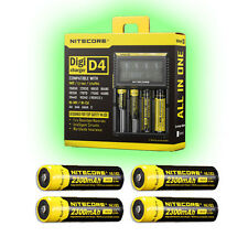 NiteCore IntelliCharger D4-2nd generation w/4x Nitecore 2300mAh Batteries