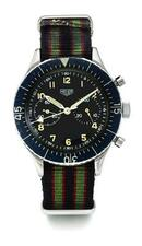 HEUER | A STAINLESS STEEL FLYBACK CHRONOGRAPH MILITARY 'BUND' WRISTWATCH WITH...