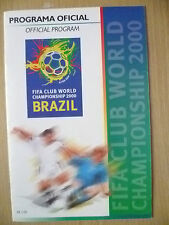 2000 WORLD CUP CHAMPIONSHIP BRAZIL OFFICIAL PROGRAMME (ORIGINAL, EXC)