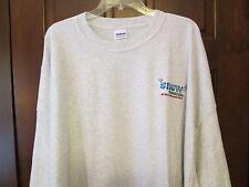 """5XL Big Men's Gray T-Shirt, Logo """"Snow Mountain at Stone Mountain Park"""", NEW"""