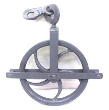 "UNKNOWN BRAND GIN BLOCK PULLEY SHEAVE AND HOIST PULLEY SET, 12"" OAD"