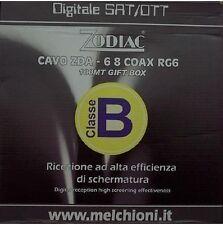 CAVO ANTENNA TV 100MT SAT DIGITALE TERRESTRE 7 MM I 450