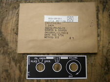 WWII Jeep MB GPW Radio BC-659 NOS Data Plate Willys G503