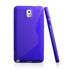 YellowKnife Clear S Back Blue Flexible TPU Case for Samsung Galaxy Note 3 N9000