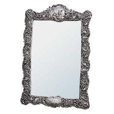 Stile rinascimentale finitura stiratura, trafilatura Champagne Rettangolo tavolo o muro specchio