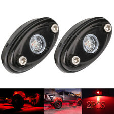 LED Rock Light Red JEEP Off-road Truck Boat Underbody Glow Trail Rig Light 2pcs