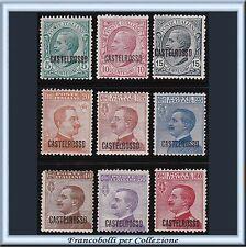 Colonie Italiane Egeo 1922 Castelrosso serie 9 valori n. 1/9 Nuovi Integri **