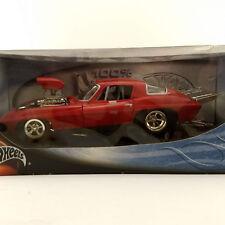 Red 1966 Pro Street Corvette - 1:18 Hot Wheels diecast - MIB in sealed box