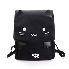 Top Girls School Bag Anime Cat Girl Canvas Backpack Travel Rucksack Handbag Bags