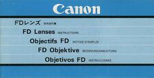 180140 CANON FD LENS GENUINE INSTRUCTION MANUAL