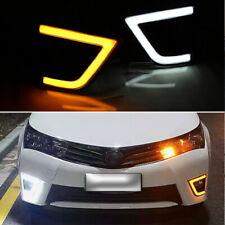 For Toyota Corolla 2014-2015 DRL LED Daytime Running Fog Lamp Light Turn Signal