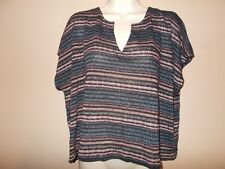 American Eagle Outfitters Womens Size L Stretch Knit Top Striped Pattern