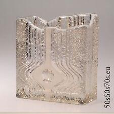 Glas Vase Pressglas Peill & Putzler rechteckig H=15,8 cm 60s Design #209