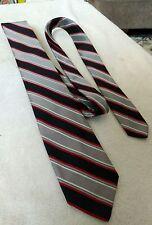 Vintage Scarbroughs Austin Silver and Black Striped Neck Tie Necktie Formal Wear