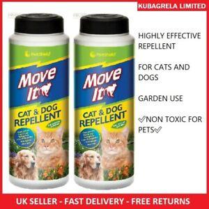 2 x CAT AND DOG DETERRENT REPELLENT POWDER  non toxic pet animal garden outdoor