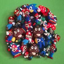 50pcs / 2D PVC Shoe Charms - Super Mario - Similar to Jibbitz and fits Crocs