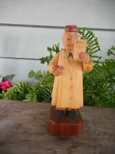 Vintage Anri Italy Hand Carved Wood Pharmacist Figure w Labels