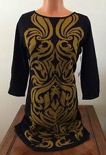 Size Medium M Nine West Dress Womens Black Citrine Sweater Dress 3/4 Sleeve