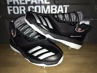 ADIDAS AFTERBURNER 6 PE GRAIL SPEED TRAP BLACK OUT LE BASEBALL CLEATS SIZE 9