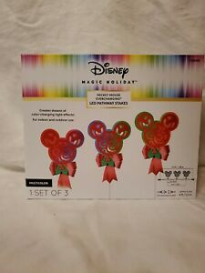 Disney Magic Holiday Mickey Mouse Pathway Lights & Mickey Mouse Hanging Light