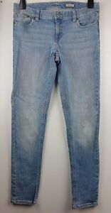 Ralph Lauren Girl's Blue Faded Stretchy Skinny Straight Jeans Age16