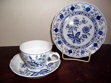 ** Kaffeegedeck - Form Marienbad - Ingres Weiss - Zwiebelmuster Blau **