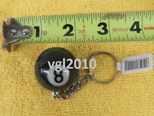 8 Ball Billiard Pool Ball Key Chain