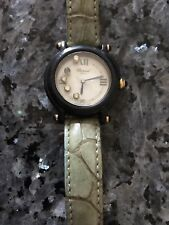 Chopard Be Happy Ladies 4 Floating Diamond And Sapphire Swiss Quartz Watch OBO
