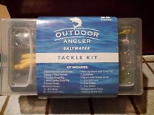58 piece Outdoor Angler Saltwater tackle box kit curly tail sinkers fishing gear