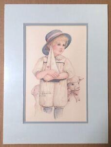 "Jan Hagara Signed Collector's Club Ltd. Edition Print,  ""Brandon"", 1990, EUC"