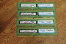LOT OF 4 SAMSUNG/EDGE 8GB 2Rx8 PC3L-12800E DDR3 ECC REG MEMORY MODULES