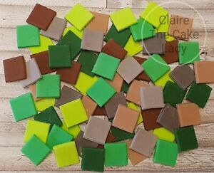 200 edible handmade pixels/squares cake topper 19mm suitable for mine craft cake