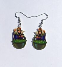 Witch Earrings Wicked Queen Poison Apple Charms SnowWhite Snow White