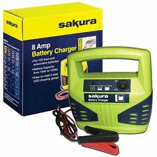 SAKURA 8 AMP 12v BATTERY CHARGER FROM 15Ah to 50Ah SS3631
