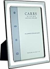 "CARRS - Sterling Silver Photo Frame Plain Design Wood Back - 6"" x 4"""