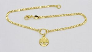 New Tree of Life Anklet for Ankle Foot  Curb Chain in 9ct Gold  GF   572