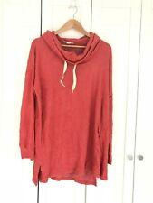 NWT MOTHERHOOD MATERNITY Tunic Sweatshirt Cowl Neck Burnt Orange sz XL $30