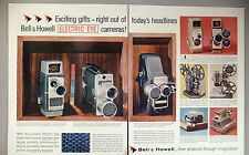 Bell & Howell Camera & Projector 2-Page PRINT AD - 1957