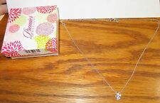 RARE PREMIER DESIGNS REMEMBRANCE CROSS NECKLACE IN BOX SILVER PLATED CRYSTALS