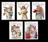Christmas set of 5 stamps mnh Gibraltar 2005
