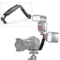 Neewer L-Shape Bracket Holder Mount for Flash Light Camera Camcorder W/ Hot Shoe