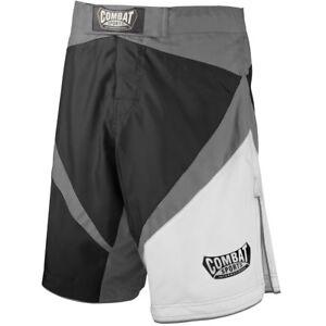 Combat Sports CSB2 MMA BJJ No Gi Fight Training Board Shorts - Black/Grey